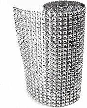 SUPEWOLD Strassband Silberne Diamant-Maschenfolie