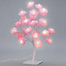 Supow Tischlampe, verstellbare Rosenblume,