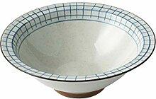Suppenschüssel Keramik Trompete Elegantes Plaid