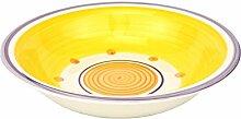 Suppenteller Cefalu - Violett, Orange & Gelb im
