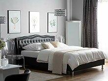 Supply24 Designer Barock Leder Bett Unicorn