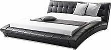 supply24 Designer ECHTLEDER Bett/echtes Lederbett