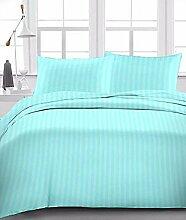 Supreme 1Stück Bett Rock Luxuriöse 350TC Aqua Blau Stripe Euro Large Single 100% ägyptische Baumwolle extra tief Pocket (22Zoll)–von TRP Blatt–B6