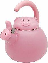 Supreme Housewares Flötenkessel, Pink Pig