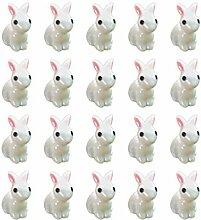 Supvox 35 Stücke Miniatur Kaninchen Figur