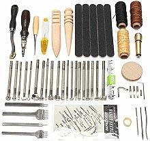 SUPVOX 59 stücke Leder Handwerk Werkzeuge Kit