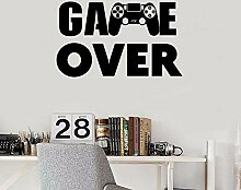 SUPWALS Wandaufkleber Game Over Wall Decal PS4