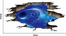 SUPWALS Wandtattoos 3D Kosmischen Raum Galaxy