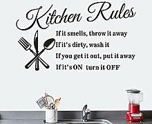 SUPWALS Wandtattoos Entfernen Sie Küchenregeln