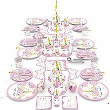 Surenhap Party Set Einhorn, Geburtstagsdeko
