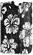 SURERUIM Wäschesack Grunge Schwarz Weiß Hibiskus