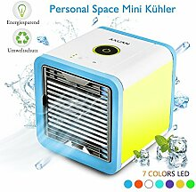 Suroper Ventilator mit Wasserkühlung Leise Klein USB, Blau