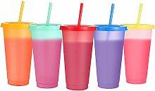 Sursip 680 ml Farbwechsel-Becher mit Deckel