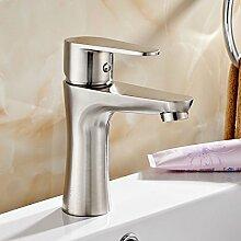 Sursy 304 Edelstahl Waschbecken mit warmen und kalten Wasserhahn KERAMIK Waschbecken Waschbecken Single Kong Longtou