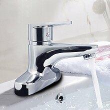Sursy Kupfer Doppel Waschtisch Armatur Waschbecken Waschbecken Teich Waschbecken und Badezimmer Armatur