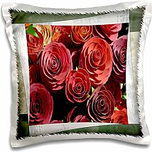Susan Brown Designs Flower Themes - Artificial Roses - 16x16 inch Pillow Case (pc_36544_1)