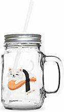 Sushi Cat | Mason Jar Schraubdeckel Einmachglas