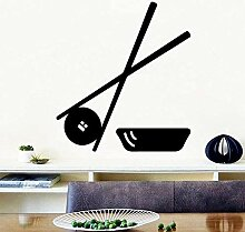 Sushi Essstäbchen Vinyl selbstklebende Tapete