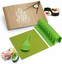 Sushi-Set – Silikon Sushi Roller mit Reispaddel,