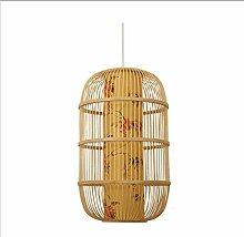 Suspension Rotin Bambus Kronleuchter Retro-Stil