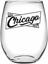 Susquehanna Glass Chicago Banner Weinglas ohne