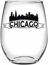 Susquehanna Glass Chicago Skyline Weinglas ohne