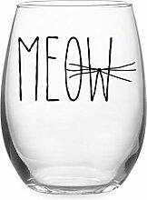 Susquehanna Meow Weinglas ohne Stiel