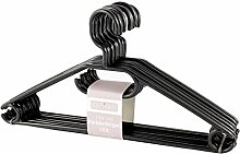 Sustania KleBü - Kleiderbügel 50 Stück in schwarz   Wäschebügel aus Kunststoff - Made in Germany