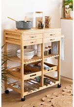 Sutton Bambus Küchenwagen Bambus Sklum