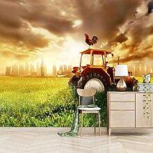 Farmer IN Traktor Vorbereitung Ackerland Fototapete Wandbild 47193817