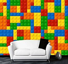 Suwhao Benutzerdefinierte Fototapete 3D Lego
