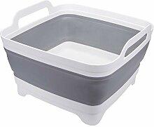 Suwimut Faltbares Waschbecken mit Abfluss und