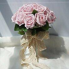SUWIND 19 Kopf Kunstseide Rosen Blumen