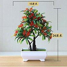 suxiaopei Künstliche Pflanzen Topf Bonsai Bäume