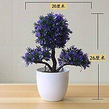 suxiaopei Simulation Pflanze Topf Gras Ball Bonsai