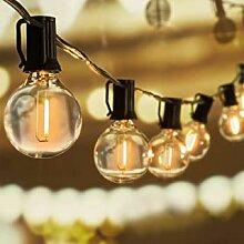 Svater Lichterkette Außen,15m 46 Glühbirnen LED