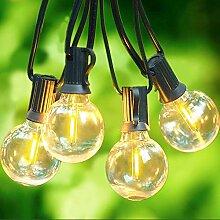 Svater Lichterkette Außen,7.6m 23 Glühbirnen LED