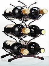 SVEIKS Weinregal für 6 Flaschen, rustikal,