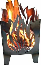 SvenskaV Flamme Feuerkorb Rohstahl 30,5x32,0x47cm