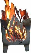 SvenskaV Flamme Feuerkorb Rohstahl 35,5x37,0x75 cm