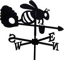 SvenskaV Wetterfahne Biene klein, schwarz