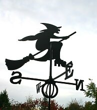 SvenskaV Wetterfahne Hexe, groß, schwarz