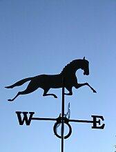 SvenskaV Wetterfahne Pferd, groß, schwarz