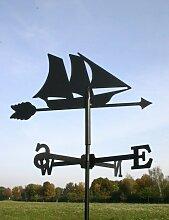 SvenskaV Wetterfahne Segelboot, klein, schwarz