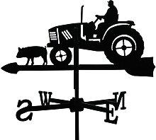 SvenskaV Wetterfahne Traktor, klein, schwarz