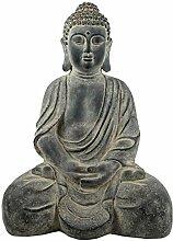 SVITA Buddha sitzend Garten-Deko Figur Asien