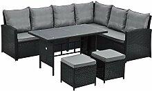 SVITA Monroe Garten-Lounge Set Polyrattan