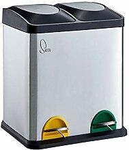 SVITA TC2X15 Küchen-Eimer 30 Liter 2x15L