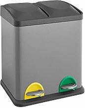 SVITA TC2X15 Küchen-Eimer grau 30 Liter 2x15L