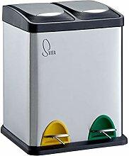 SVITA TC2X8 Küchen-Eimer 16 Liter 2x8L Edelstahl